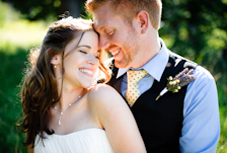Joyful wedding portrait by destination wedding photographer, Aaron Courter - Portland, Oregon