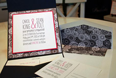Contemporary Seattle wedding invitations by Paper Fling
