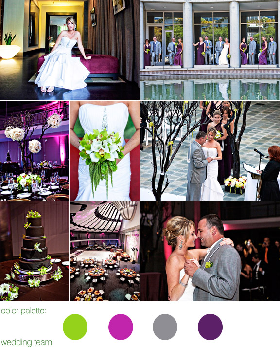 jewel toned color palette, green, eggplant and gray, photos by: joy marie photography