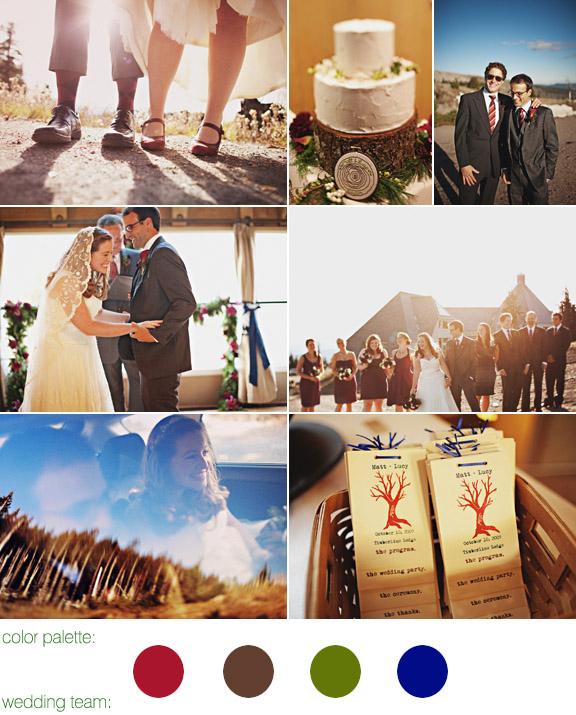 Junebug Real Weddings: Timberline Lodge Wedding, Mt. Hood, Oregon, Wedding