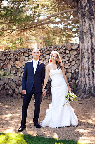 real wedding - photography by: meg perotti - the holly farm - california