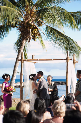 photos by: derek wong photography - real wedding - maui, hi - olowalu plantation house