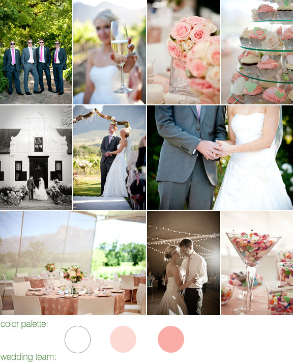 real wedding - vrede en lust - franschoek south africa - light pink color palette - photos by: christine meintjes