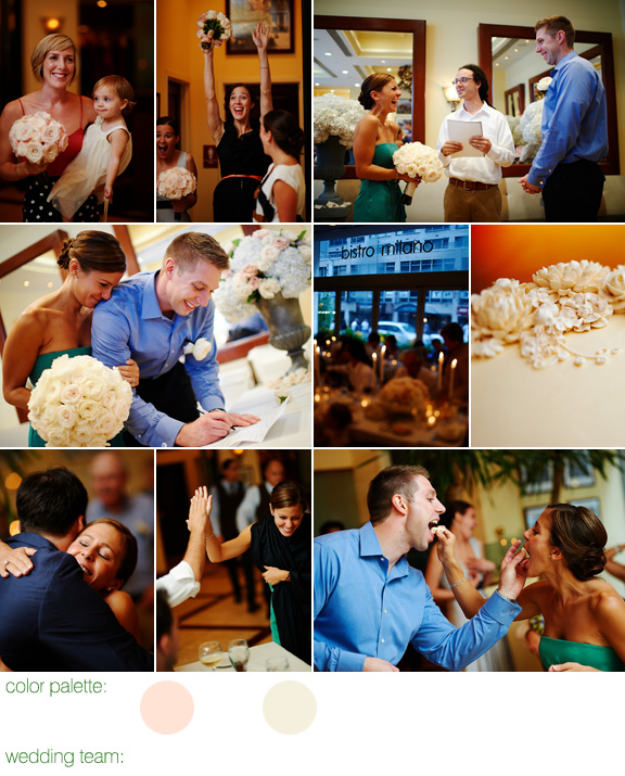 photography by Ryan Brenizer - Hurricane Irene wedding - Manhattan, NYC - Bistro Milano