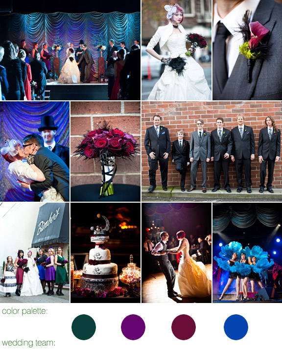 Vaudeville And Burlesque Inspired Wedding At Bimbo's 365