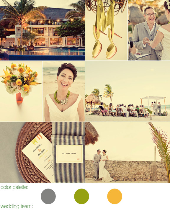 Playa del Carmen, Mexico destination wedding - photos by: Paco and Betty - Hotel Le Reve
