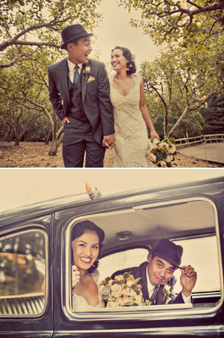 real wedding - Nestldown Retreat - Santa Cruz Mountains, CA - photos by: Paco and Betty