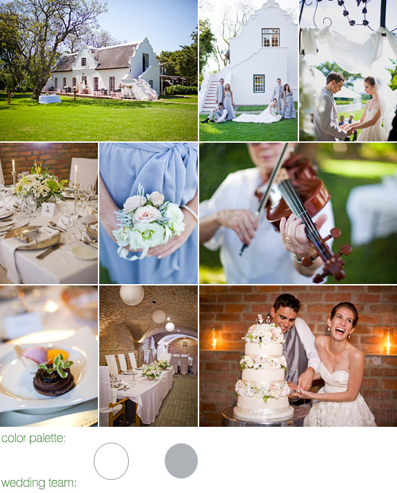 real wedding - photography by: Rensche Mari - color palette: white with touches of silver - Palmiet Valley Estate - Paarl, South Africa