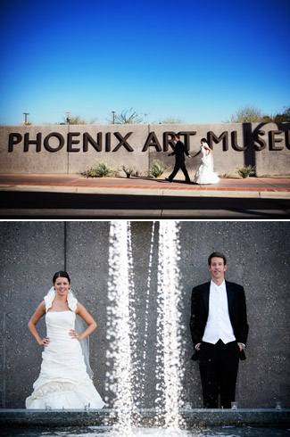 real wedding - photos by: Hollye Schumacher Photography - Phoenix Art Museum, Phoenix, Arizona