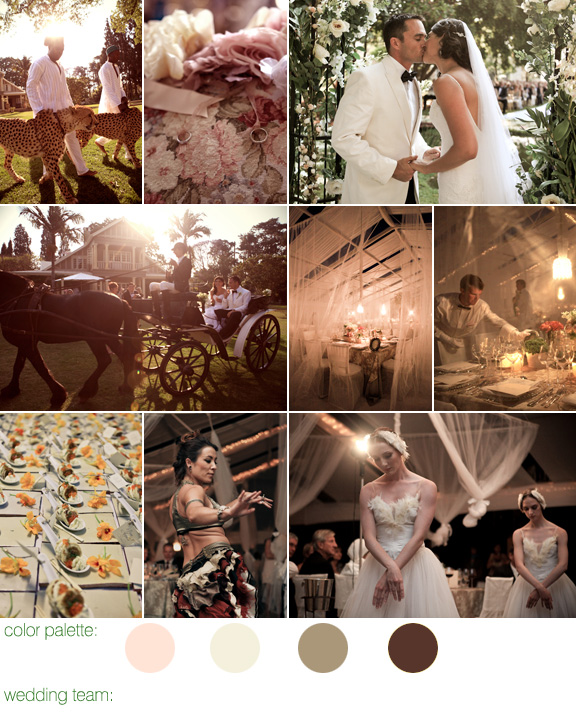 Swan Lake inspired real wedding Zimbabwe, South Africa - photography by: Shanna Jones - cream, champagne, and sepia wedding colors