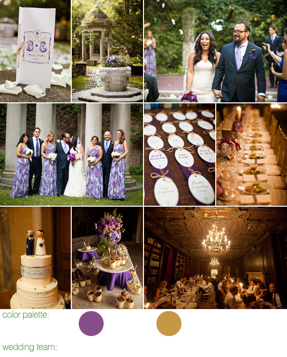 purple and gold fall wedding at Alder Manor, Yonkers NY - photos by Dave Robbins Photography