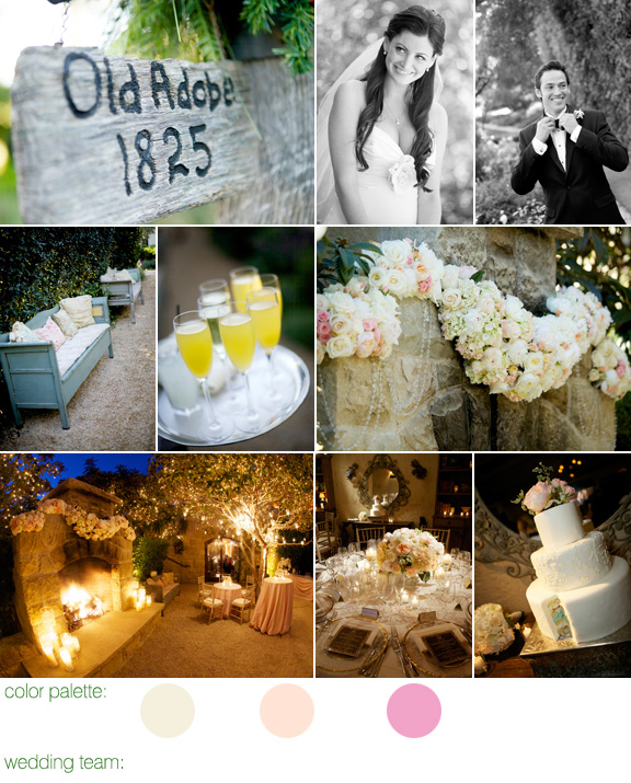 intimate outdoor California wedding - San Ysidro Ranch - La Fete designs - photos by BB Photography