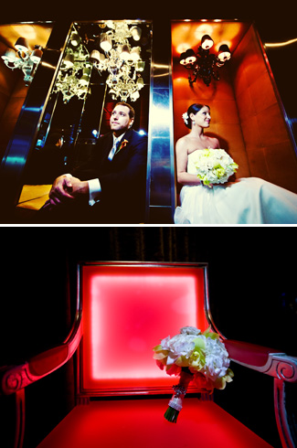 ultra modern wedding at the luxury SLS Hotel Beverly Hills - photos by Kim Fox Photography