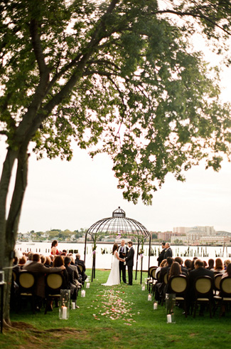 photo by: Jen Lynne Photography - Angelina's Ristorante, Staten Island NY - waterfront ceremony