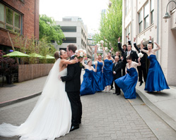 elegant wedding at Alexis Hotel Library Bistro, photos by Seattle wedding photographer Barbie Hull, Seattle, Washington