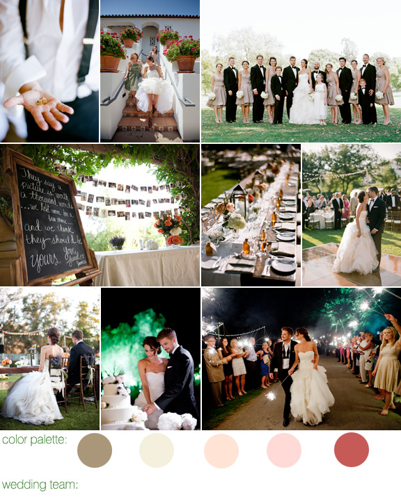 summer garden wedding - Ojai Valley Inn, California - photography by L.A. wedding photographers Amy and Stuart