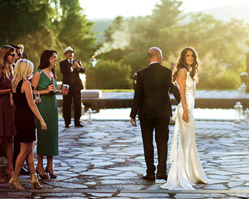 photography by NYC wedding photographer Roey Yohai - outdoor wedding ceremony upstate New York