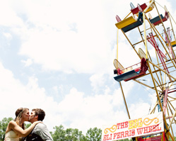 photos by top Chicago based wedding photographers Studio 6.23 - circus inspired outdoor wedding