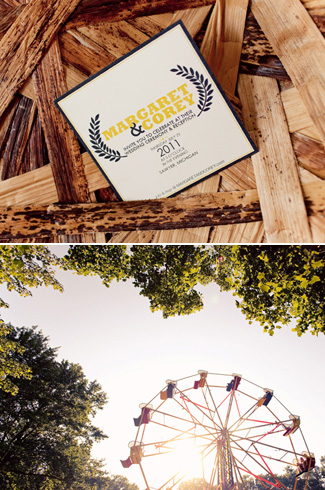 outdoor, circus-inspired DIY wedding - photos by top Chicago based wedding photographers Studio 6.23