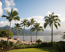 tropical destination wedding - st. regis princeville resort, hawaii - photos by top Hawaiian wedding photographer Derek Wong