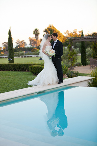 intimate wedding at Villa Sevillano, Santa Barbara, CA with photos by Melissa Musgrove Photography