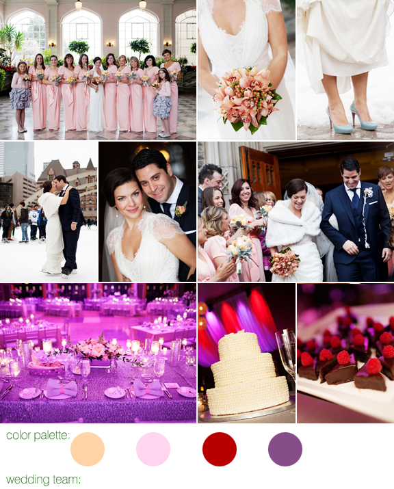 peach and pink wedding at The Carlu in Toronto, Ontario, Canada with Photos by Jenna & Tristan