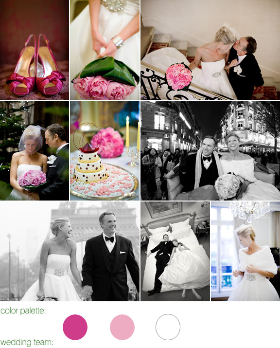 real wedding - pink and white color palette - amy & stuart photography
