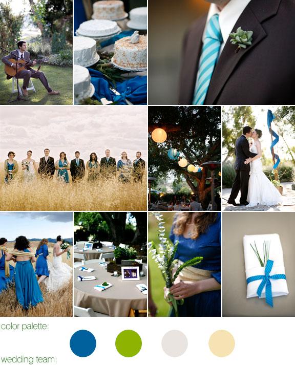 Real Weddings, Real Wedding, San Fernando Valley, Blue