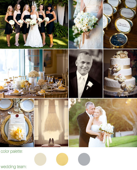 real wedding, metallic and cream color palette, santa barbara, ca. photos by: boutwell studios