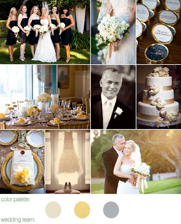 Junebug Real Weddings: Real Weddings, Santa Barbara Wedding, Yellow And Grey