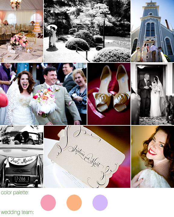 Real Weddings, Real Wedding, Port Gamble, WA, Pink, Peach