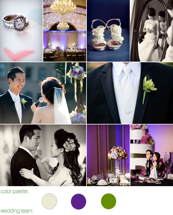 photography by: boutwell studio - real wedding - color palette: ivory, purple, and green -  pasadena, ca - langham hotel and spa