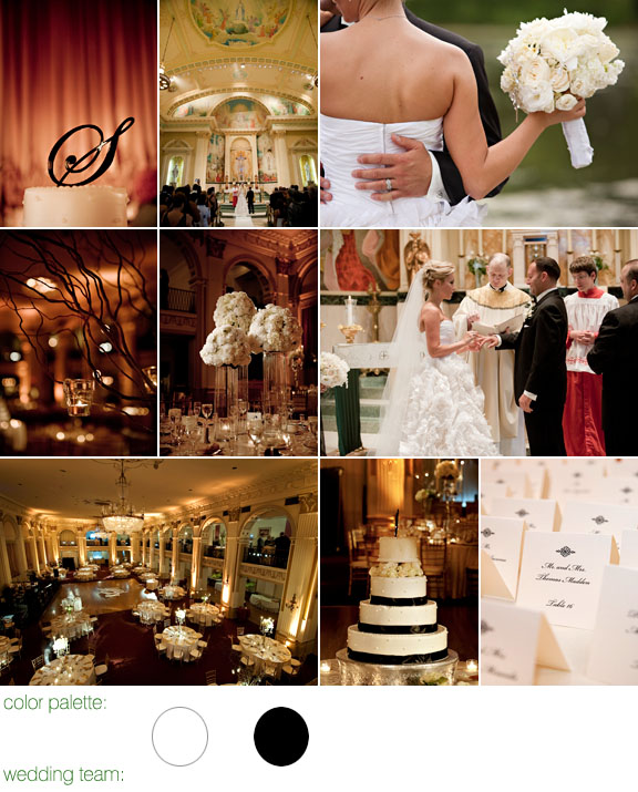 real wedding - maloman photographers - philadelphia, pa - color palette: white and black - ballroom at the ben