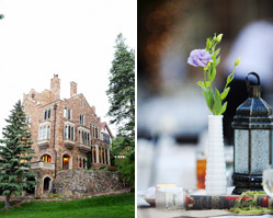 real wedding - glen eyrie castle - colorado - photos by otto schulze