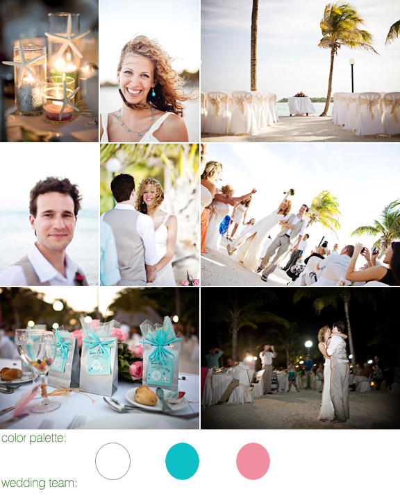 Barcelo maya beach resort, riviera maya mexico - real wedding - photos by: lucida photography - color palette: white, light pink and light blue