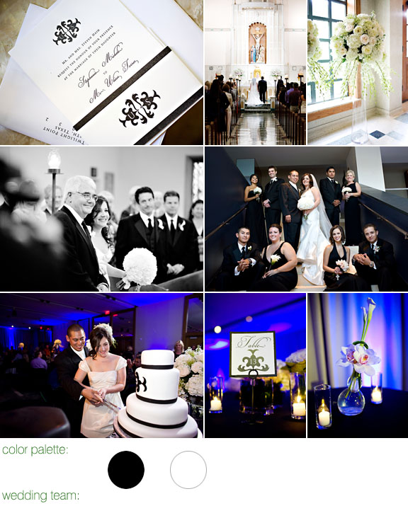 Perez photography, black and white wedding color palette