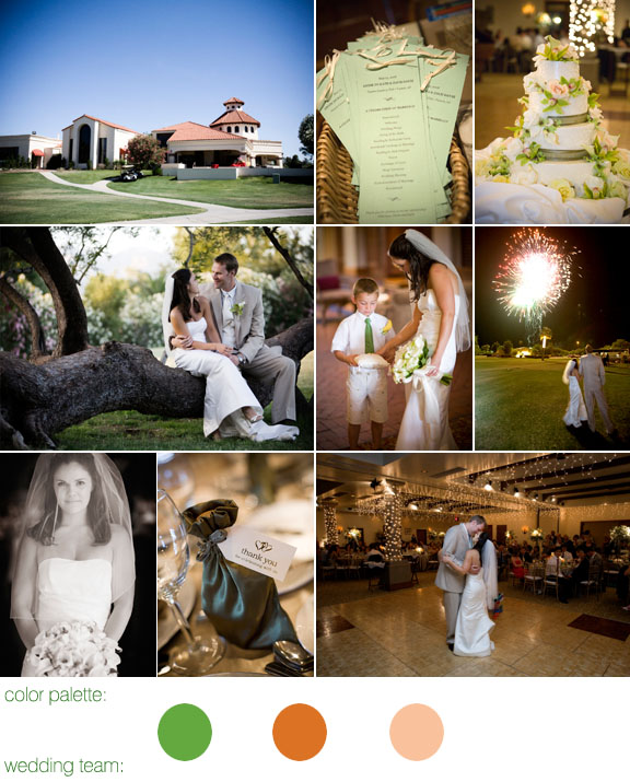 Real Wedding, Tuscon, Arizona, Fun Festive Outdoor Ceremony
