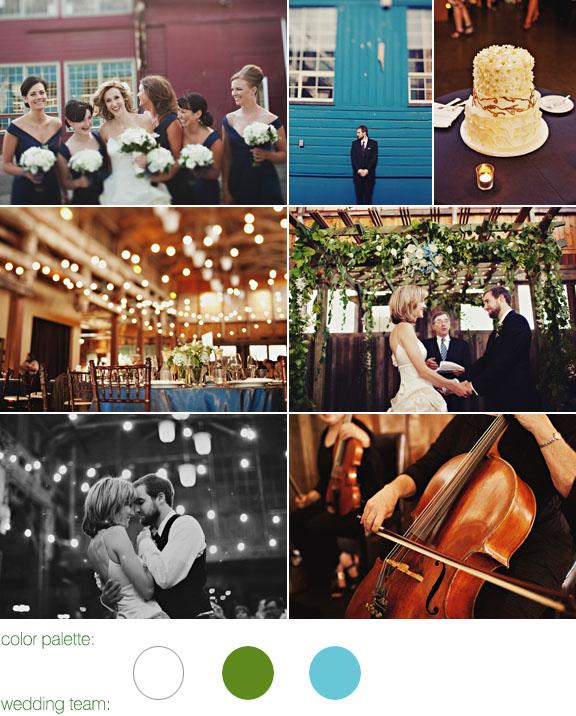 Junebug Real Weddings: Real Wedding-Seattle, Fun, Traditional, Spring Green And Aqua