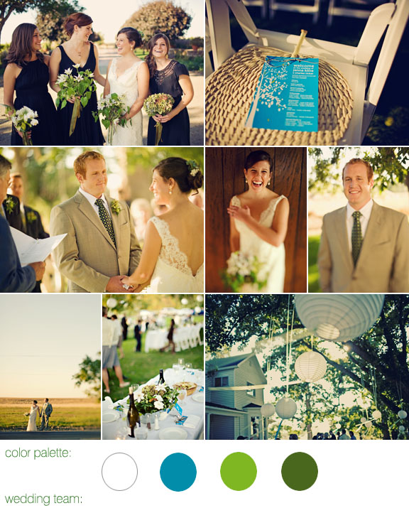 Junebug Real Weddings: Real Weddings, Real Wedding, Vineyard Location, Blue And