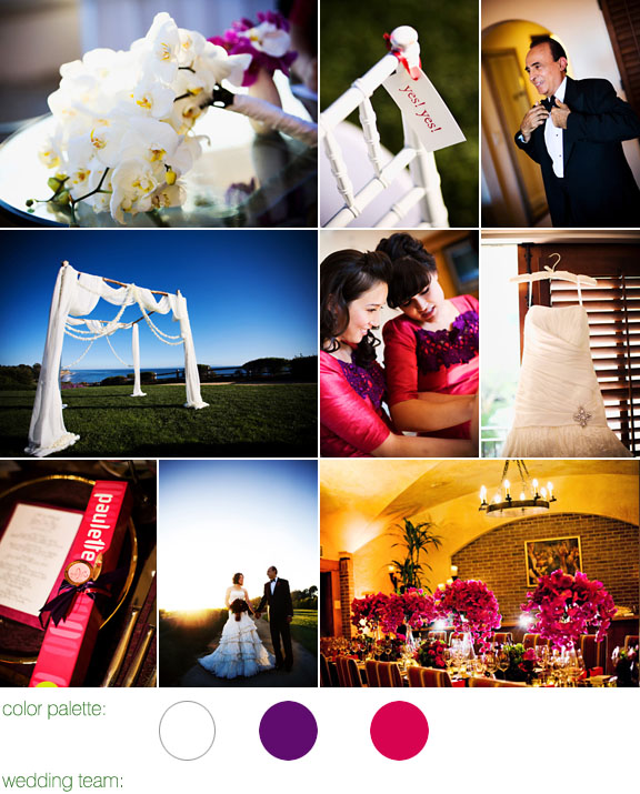 Junebug Real Weddings: Real Wedding, Los Angeles, Bacara, Elegant Floral Arrangements