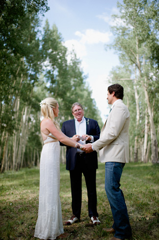 Mandy and Andy's rustic elegant ranch wedding at Telluride, CO with photos by Chowen Photography