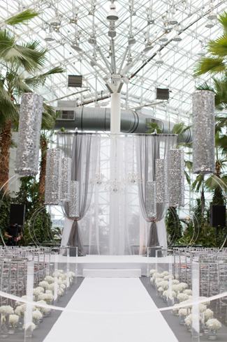 elegant white and crystal wedding at Crystal Gardens in Chicago, IL, Photos by Miller + Miller Wedding Photography