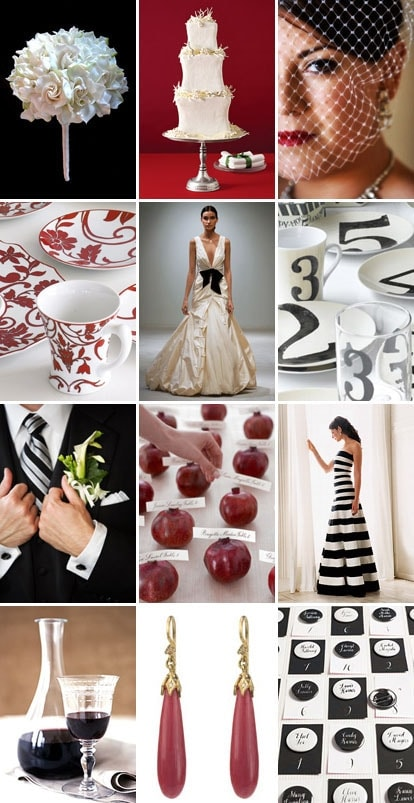 White Stripes Wedding Inspiration