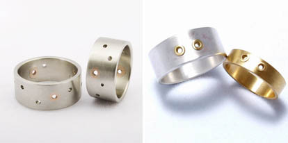 robot band wedding rings from fancyjewelscom - Creative Wedding Rings