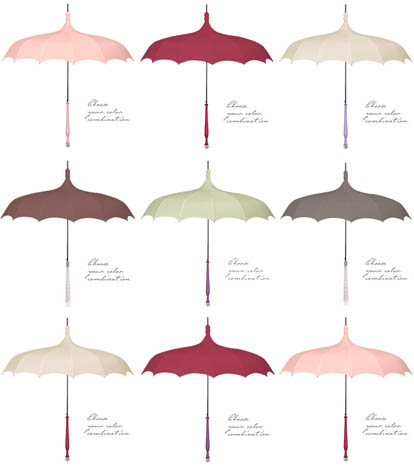 And hundreds of other vintage umbrellas in every color under the sun, and  more ruffles