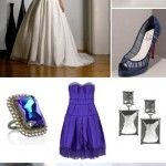 Royal Blue and Metallic Wedding Color Palette