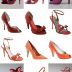 Colorful Bridal Shoes for an Orange, Pink and Red Wedding Color Palette