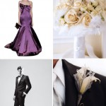 Grey, Silver and Berry Wedding Color Palette and Inspiration Board