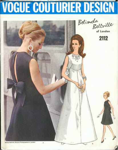 Vintage 1960s Belinda Bellville wedding dress pattern