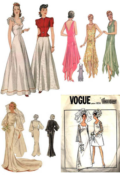 Vintage wedding dress patterns